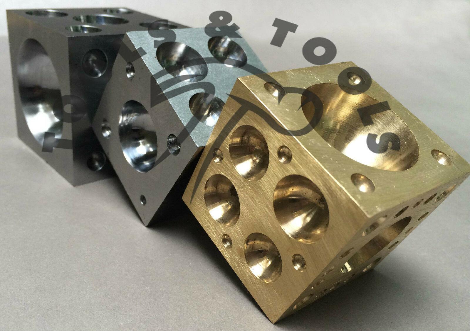 "Heavy Duty 2.0/"" BRASS Doming Dapping Block Metal Shaping Beading Jewellery etc"