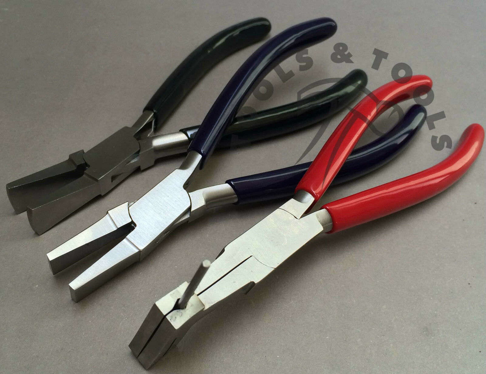 3 PCS PLIERS SET JUMP RING COIL CUTTING DUCK BILLED WIDE JAW JEWELRY Wiring Pliers on