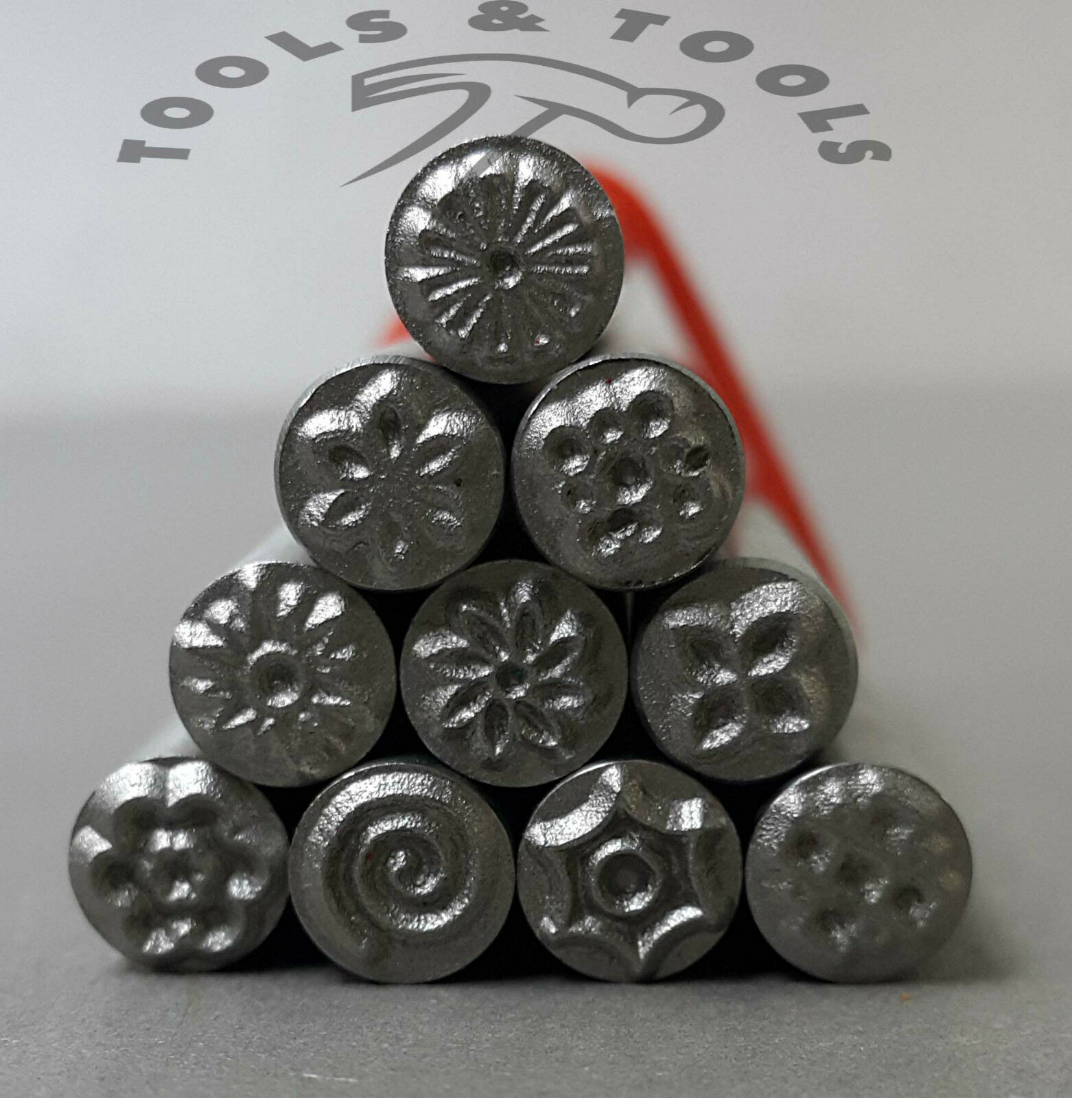 5 Mm Various Floral Patterns Precision Design Metal Punch