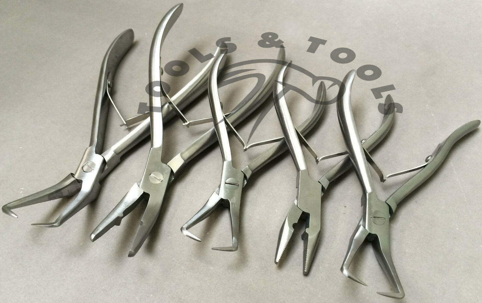 Set Of 5 Pieces Hair Extension Pliers Micro Rings Fusion Glue Bond