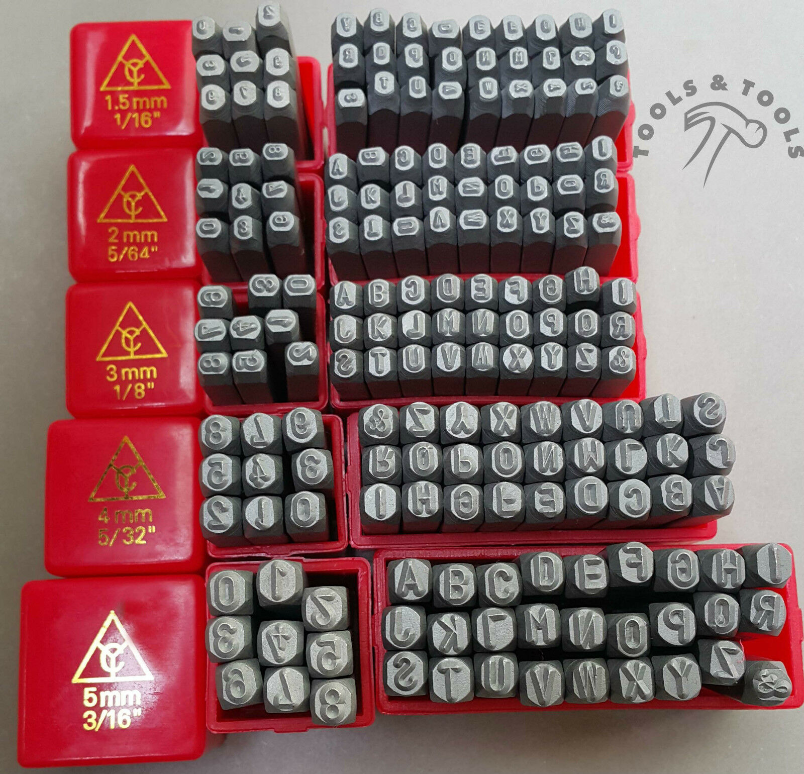 Jewelry Making Alphanumeric Metal Punch Stamps Letters A Z Numbers 0