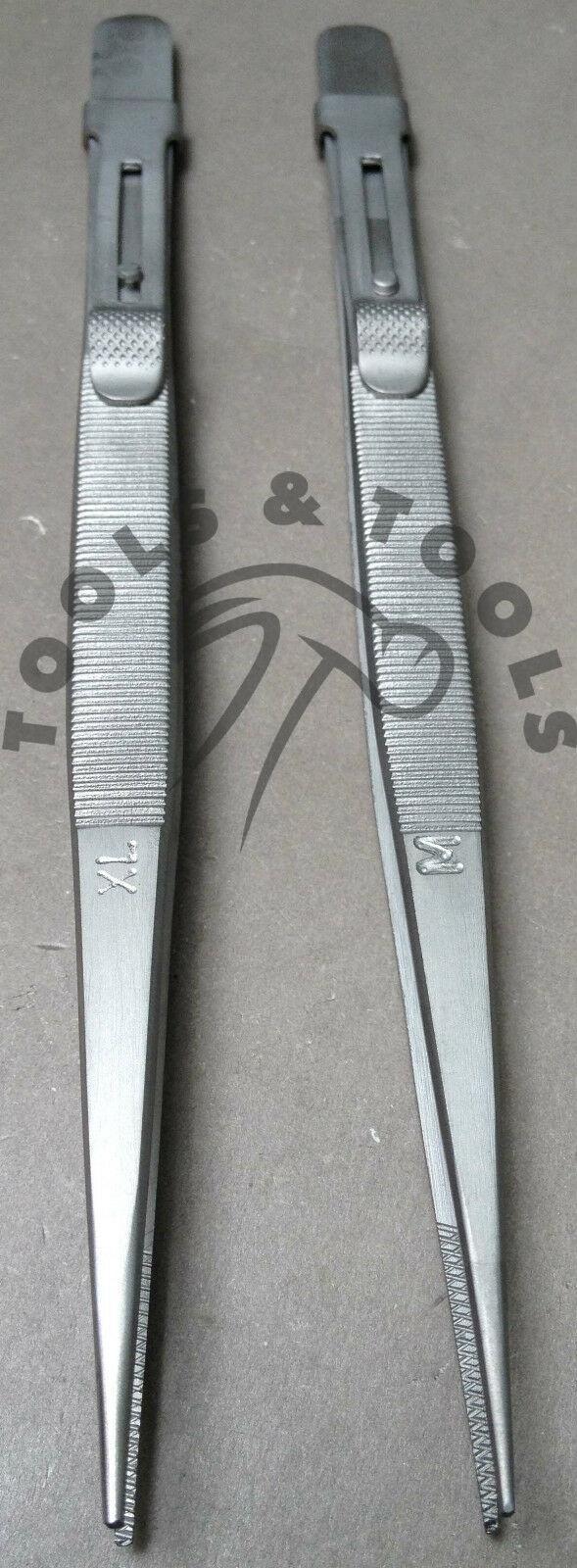 "TWEEZERS DIAMOND GEMSTONE BEAD ANODIZED BLACK TWEEZER 6.5/"" JEWELRY CRAFTS F /& M"