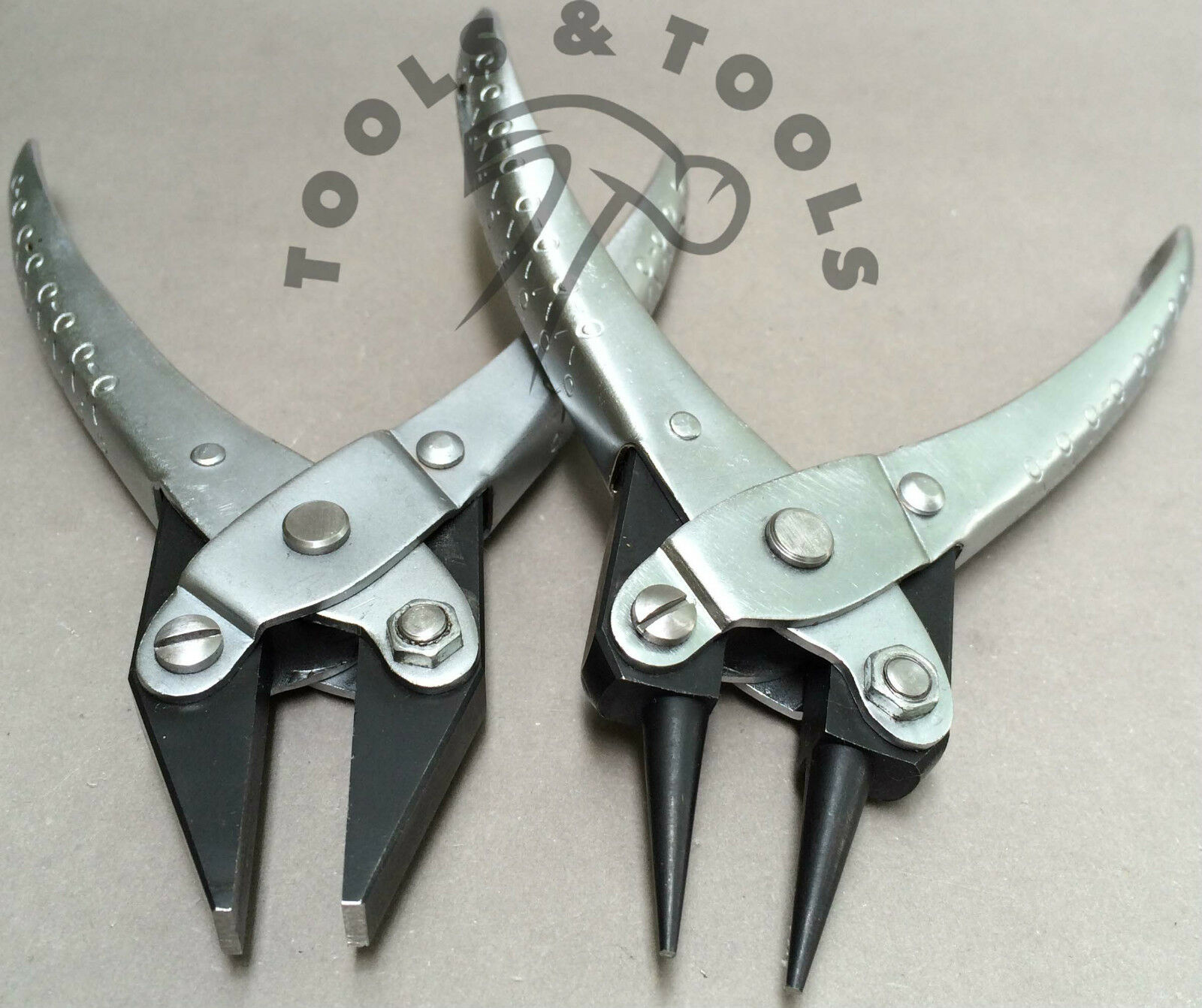 2 Piece Parallel Action Smooth Flat Nose /& Brass jaws Pliers Jewelry Wire Crafts