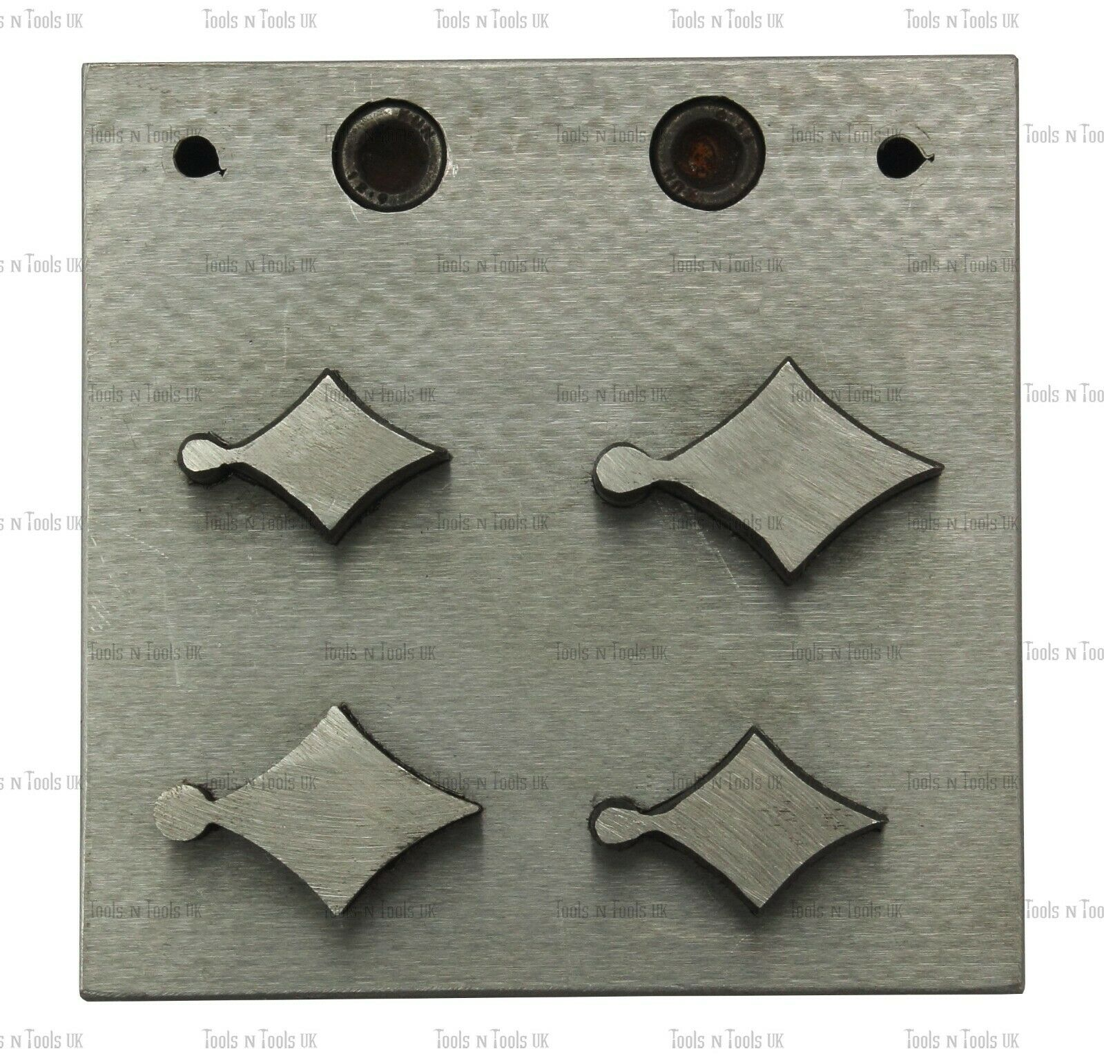 4 PUNCHS KITE DESIGN STEEL DISC CUTTERS JEWELLERY DAPPING CUT METAL SHEETS TOOL